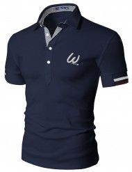Mens Casual Short Sleeve Point Polo T-Shirt (076D)