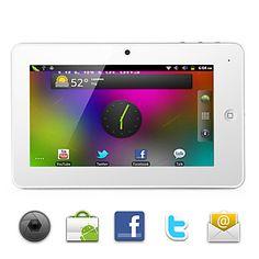 othello nieve - Android 2.3 tablet con pantalla capacitiva de 7 pulgadas (wifi, 1.2GHz, 3G, 1080p Full HD, una cámara)