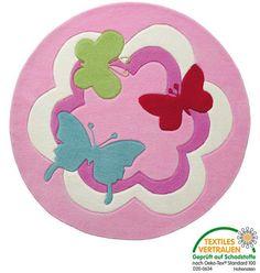 Esprit Kinderzimmerteppich Butterfly Party
