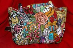 Old Leather Handbag And A  Few Sharpies She's As Good As New Again