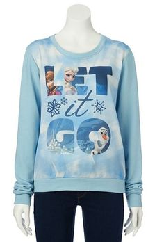 "Disney Frozen ""Let It Go"" Anna, Elsa, & Olaf Encapsulated Sweatshirt - Juniors #Kohls"