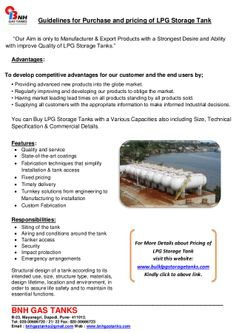 Guidelines for purchase and pricing of lpg storage tank by BNH Gas Tanks via slideshare