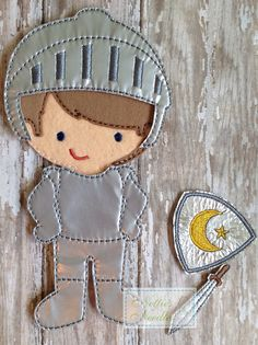 Slay dragons and save damsels in distress with this knight outfit for the boy doll! Listing includes: 1 piece knight outfit, helmet, sword and