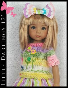 "Easter Spring Outfit #1 for Little Darlings Effner 13"" by Maggie & Kate Create"
