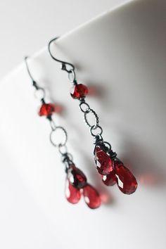 garnet earrings #earrings