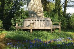 The Gaze Burvill Broadwalk Tree Seat with arms made out of Sustainably sourced Oak
