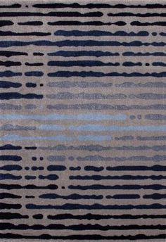 "Very Large Modern Quality Blue Stripes Area Rug 6'7"" x 9'6"" Carpet:Amazon:Home & Kitchen"