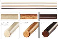 Oak Jo - 127cm (Shiro Kashi (white) 2.4cm)  + Oak shoto (Shiro Kashi (white))  + Oak tanto (Shiro Kashi (white))
