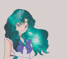 Sailor Neptune from Sailor Moon Crystal season 3 by mermelada lunar Sailor Moon Girls, Arte Sailor Moon, Sailor Moon Fan Art, Sailor Moon Character, Sailor Moon Manga, Sailor Neptune, Sailor Saturn, Sailor Mars, Sailor Mercury