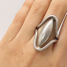 Vtg 925 Sterling Silver Handmade Openwork Wide Ring Size 10
