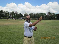 Seafarer/Tourist/Blogger Rudolph.A.Furtado flying a 7 foot kite in Denpassar.