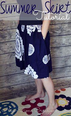 DIY Sewing : DIY Summer Skirt Sewing Tutorial
