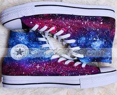 #Galaxy Custom Shoes Custom Painted Galaxy Shoes