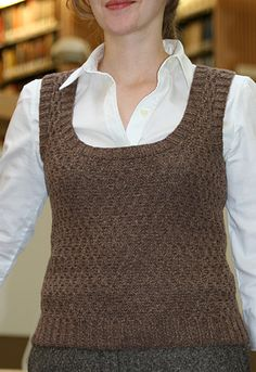 Free pattern: Honeycomb vest from Knitty. Tools: 1 set US #4/3.5mm straight needles (optional);  1 24-inch US #4/3.5mm circular needle;  1 16-inch US #4/3.5mm circular needle;Stitch holders;  Stitch marker; Tapestry needle    http://knitty.com/ISSUEspring08/PATThoneycomb.html