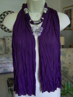 Super Cute! Purple Jewelry Scarf necklace scarf necklace by Lacesanddreams, $23.00
