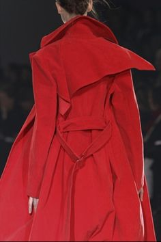 I would love to own a red coat like this, especially from coolmaster Yohji Yamamoto.