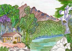 Trabalho em aquarela 2016 Casa no Lago