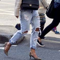 """Distressed Boyfriend Jeans Gypsy Warrior Distressed Boyfriend Jeans! *cover photo is only an inspo pic, next 3 are actual product!   worn 3 times at most, in perfect condition   no stains or signs of wear  I'm 5'3"""" for length reference  these run a tiny bit bigger and fits a 2-4  pls make all offers via the offer button! no trades, PP or Mercari  Gypsy Warrior Jeans Boyfriend"""