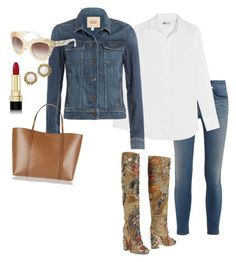 """Untitled #37"" by teranaharris on Polyvore featuring rag & bone/JEAN, Dolce&Gabbana, J.Crew, Paige Denim and Kendra Scott"