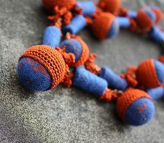 Ethnic crocheted necklace by Julia Kolbaskina