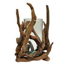 Driftwood Cylinder Glass Decorative Bowl