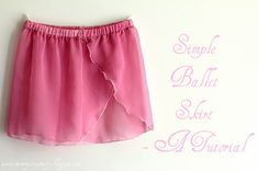 mommy sew pretty: Simple Ballet Skirt- A tutorial