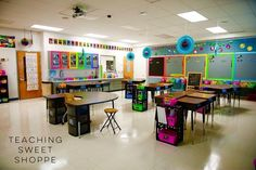 The Teaching Sweet Shoppe!: Classroom Pictures! Neon and Awesome 80s