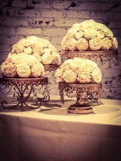 Large Cupcake Bouquet Centerpiece by SayItwithCakeLLC on Etsy Cupcake Centerpieces, Cupcake Flower Bouquets, Flower Cupcakes, Cute Cupcakes, Wedding Centerpieces, Centerpiece Ideas, Large Cupcake, Dessert Decoration, Decorations