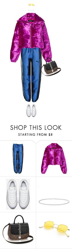 """""""i make my living with my lips"""" by pawcreations ❤ liked on Polyvore featuring Puma, MISBHV, NIKE and Anne Sisteron"""