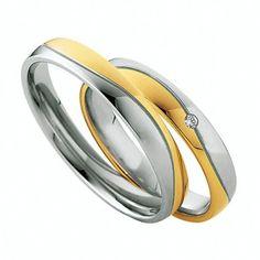 En Joyería Larrabe: Alianzas de la marca Saint Maurice de oro 87010/11 #boda #bodas2015 #wedding #novios #bodas #matrimonio #alianzas #alianzasdeboda