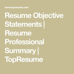 What Is A Career Objective Entrancing How To Write A Career Objective  15 Resume Objective Examples  Rg .