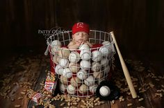 I want to have another baby just so I can have this picture done. Okay, not really, but it's so cute! Baseball. Adorable!
