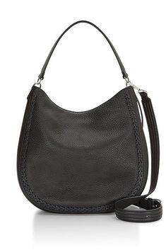 8ca9a76a190 Rebecca Minkoff Black Leather Unlined Convertible Hobo Whipstitch Handbag  New Cargar De Trabajo