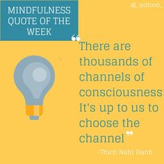 Choose the channel #mindfulness