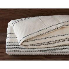Coyuchi Rippled Stripe Duvet