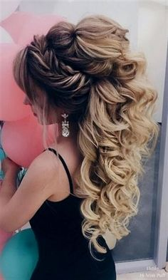 Elstile Long Wedding Hairstyles beautiful hair styles for wedding Quince Hairstyles, Wedding Hairstyles For Long Hair, Wedding Hair And Makeup, Bride Hairstyles, Easy Hairstyles, Hair Wedding, Boho Wedding, Formal Hairstyles, Gorgeous Hairstyles