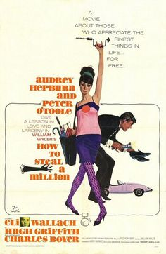 """MP168. """"How to Steal a Million"""" Movie Poster by Robert E. McGinnis (William Wyler 1966) / #Movieposter"""