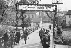 famous image from the time of the annexation of the Sudetenland ...