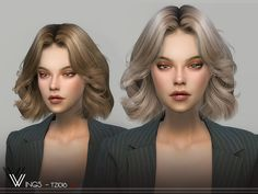 Wings, Sims 4 Mods, Play Sims, All Hairstyles, Hair Styles, Sims Resource, Ts4 Cc, Sims Cc, Female