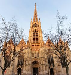 Front of l'Eglise Saint Maurice, Lille (Beginning XIV - End XIX).