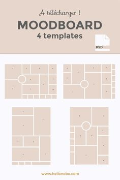 templates moodboard photoshop