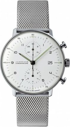 #Junghans Max Bill Chronoscope #Watch | Milanaise. #mens. Get it here: http://bit.ly/1DTV00I