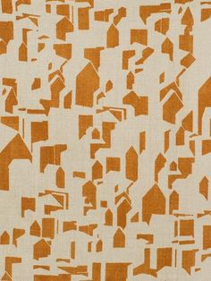 Luberon Shadows in Mandarine // Thomas Callaway for Holland & Sherry #textiles #fabric #linen #orange