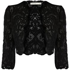 Karen Millen Lace Embroidery Jacket ($380) ❤ liked on Polyvore