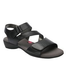 Black Marilyn Leather Sandal