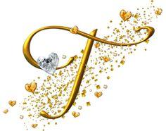 Alfabeto dorado con corazones | Fondos de pantalla y mucho más