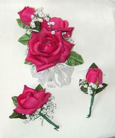 Making corsages with silk flowers and ribbons how to make a how to make an artificial boutonniere how to make wedding corsages boutonnieres making your own mightylinksfo