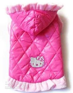 Hello Kitty Dog Clothes Dress Winter Coat Hoodie Pink # 2
