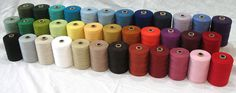 Cottolin Yarns for weaving fabric they also have looms for sale big to table top size