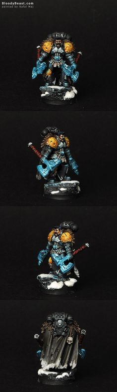 13th Company Grey Wolf w/ twin frost-axes.
